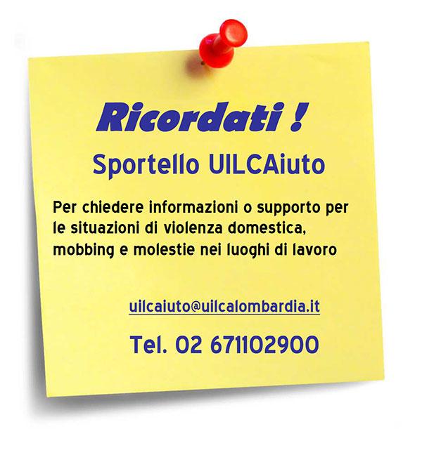 UILCA Lombardia sportello UILCAiuto
